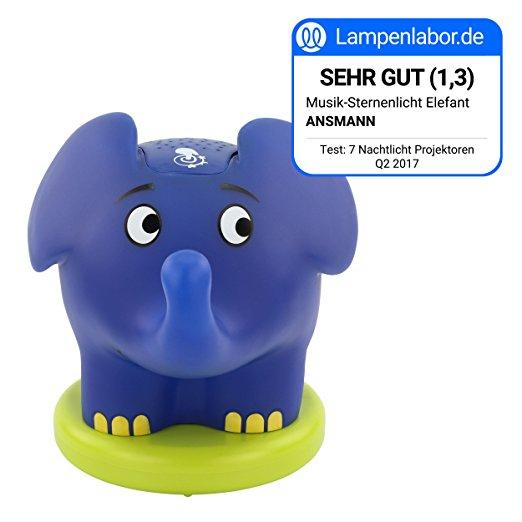 ANSMANN Nachtlicht Elefant mit Lampenlabor Siegel